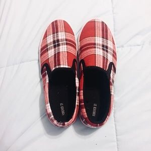Plaid Loafers/Slip Ons